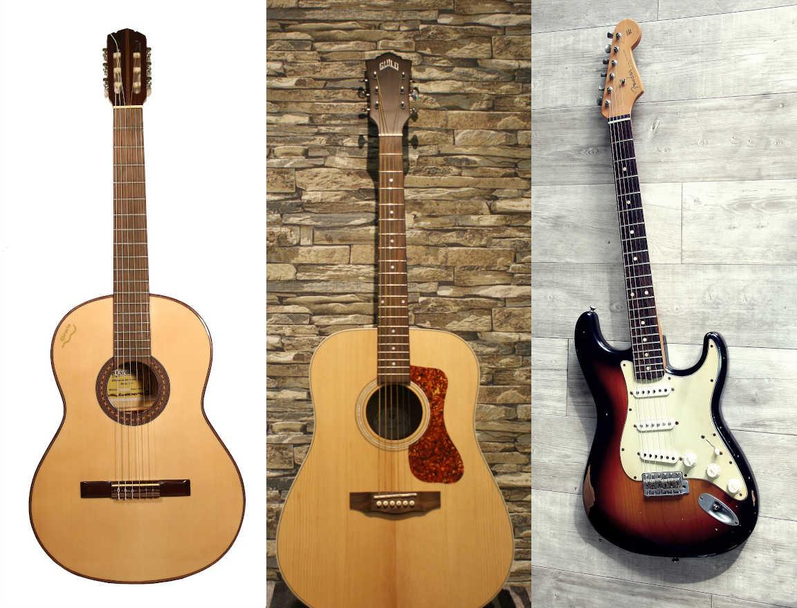 Bien choisir sa guitare - Studio Guitare Belfort